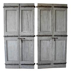 Two Pairs of Antique Shutters