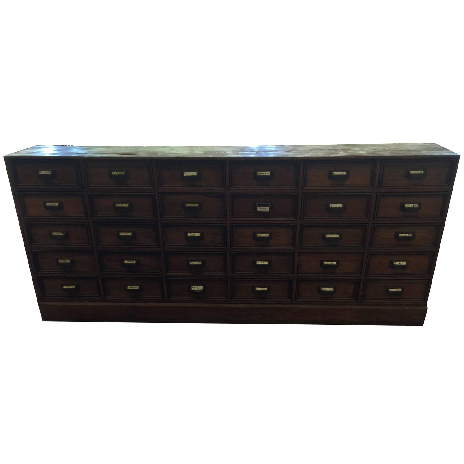 Antique 1900s Apothecary Chest 30 Bank of Drawer Cabinet Herb Wood at  1stdibs - Antique 1900s Apothecary Chest 30 Bank Of Drawer Cabinet Herb Wood