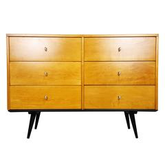 Six-Drawer Dresser with Aluminium Hardware by Paul McCobb, 1950s