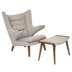 High Quality Hans Wegner U0026quot;Papa Bearu0026quot; Chair And Footstool