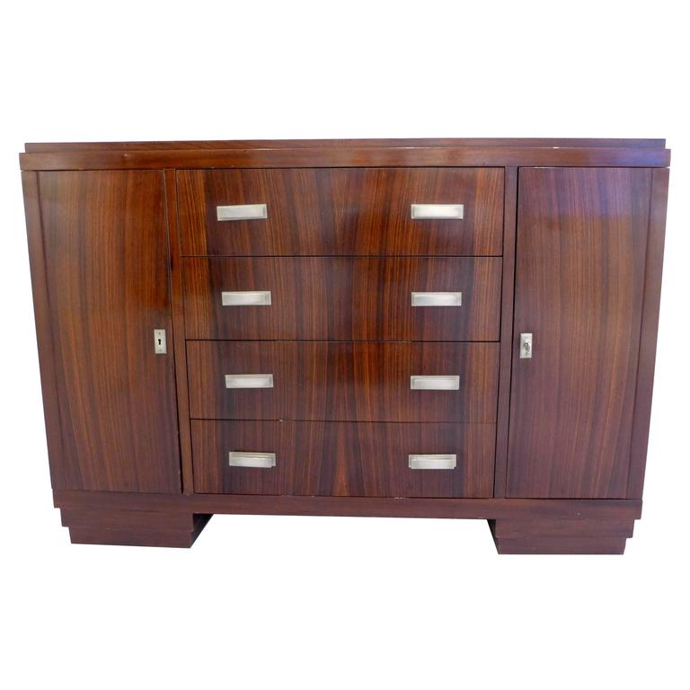 French Art Deco Cabinet in Macassar Ebony