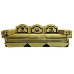 1950's Oriental Design Sofa Style of James Mont