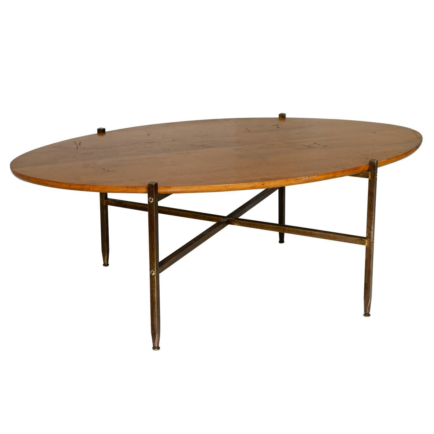 Extremely Rare Milo Baughman Brass And Mable Coffee Table At 1stdibs