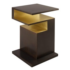 'XiangSheng II' Side Table in Bronze with an Intense Brown Patina by Studio MVW