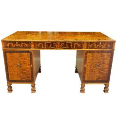Rare Carl Malmsten Pedestal Desk, Swedish Grace  Period, Produced by SMF 1930
