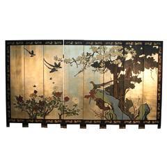 Eight-Panel Asian Folding Screen