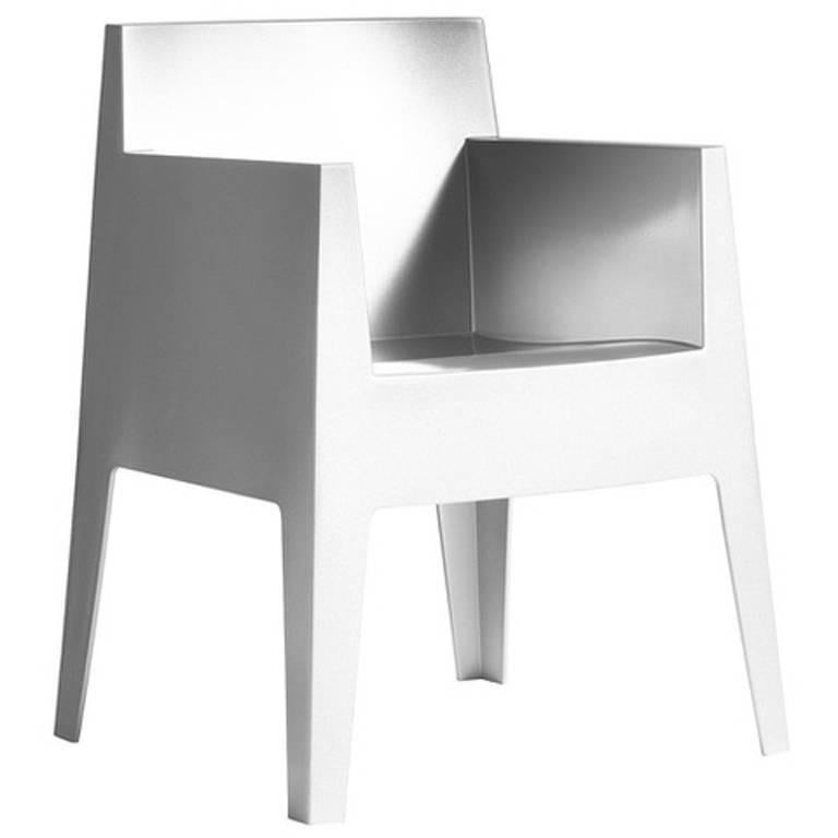 """""""Toy"""" Stackable Monobloc Armchair Designed by Philippe Starck for Driade For Sale"""
