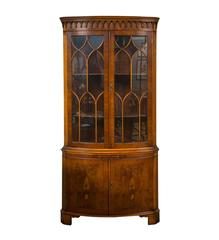 Bevan Funnell Yew Wood Corner Cabinet