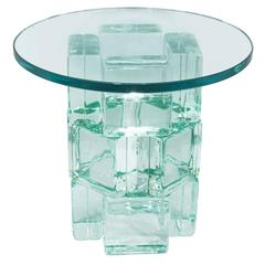 Chic Occasional Table with Solid Glass Blocks by Imperial Imagineering
