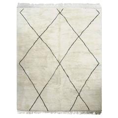 Large Ivory Berber Carpet
