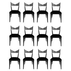 Set of Twelve Sculptural Dining Chairs by Paul McCobb for Calvin