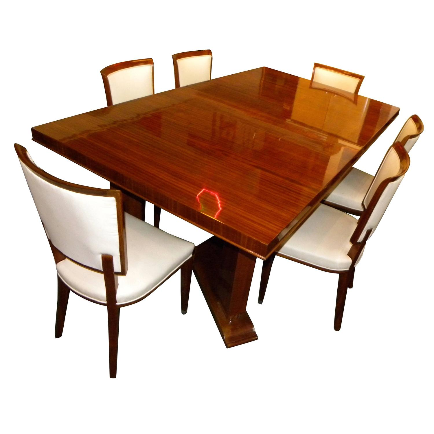 Jules leleu dining room table and chairs paris