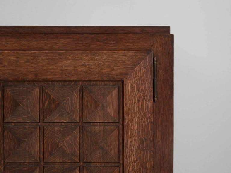 Stained Gaston Poisson Credenza in Oak For Sale