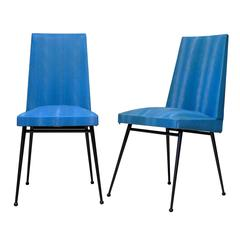 Set of Four French Mid-Century Dining Chairs