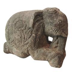 Burmese Sandstone Elephant