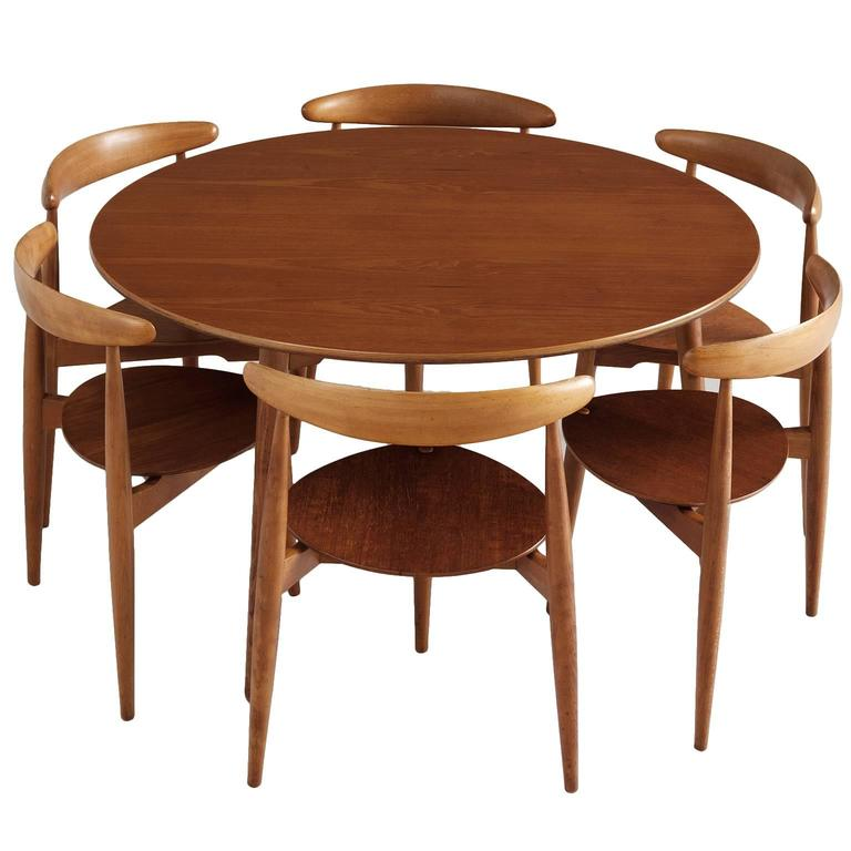 Hans Wegner U0027Heartu0027 Set Of Table And Six Chairs ...