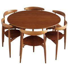 Hans Wegner 'Heart' Set of Table and Six Chairs