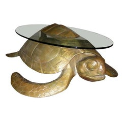 1970s Turtle Coffee Table