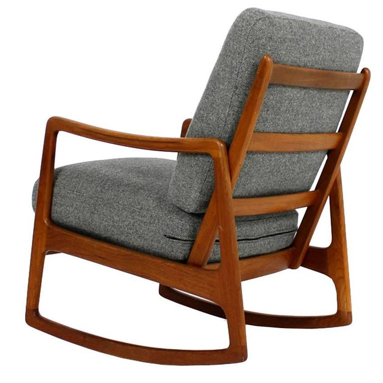 1960s Danish Ole Wanscher Teak Rocking Chair Mod. 109 Rocker Mid ...