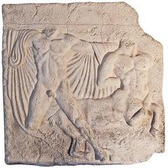 """Centaur and Nude,"" Fabulous, 38"" Mid-Century Take on Greek Fragment"