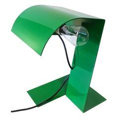 Rare Sculptural 1970s Italian Stilnovo Table Lamp