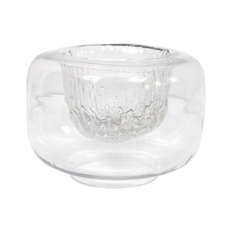 """Large Timo Sarpaneva Iittala """"Finlandia"""" Glass Bowl For Sale"""