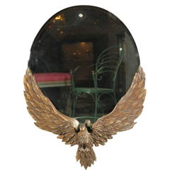 19th Century Carved Eagle with Mirror Back