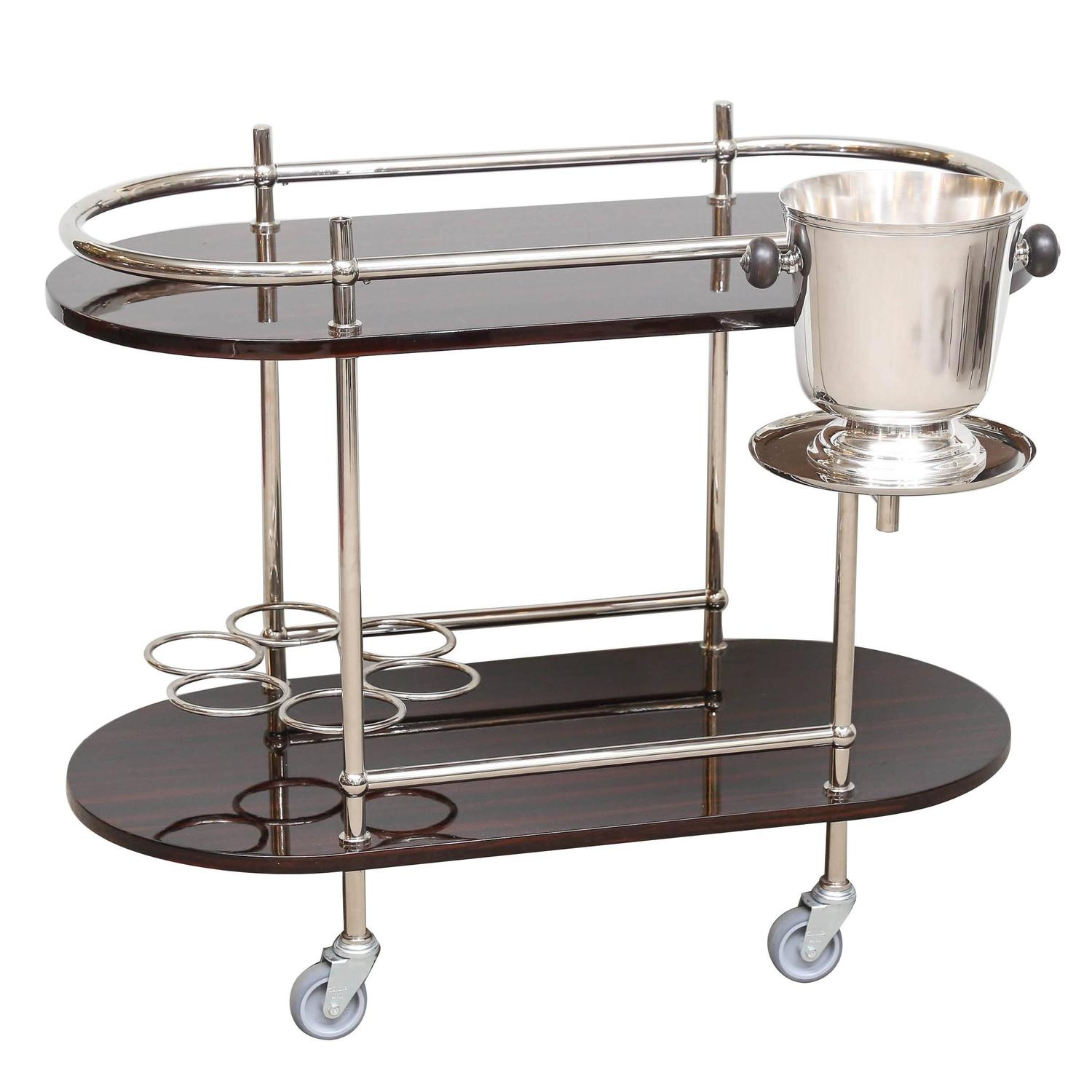 Art Deco Bar Or Serving Cart With Ice Bucket Could Be Sold Separately At 1stdibs