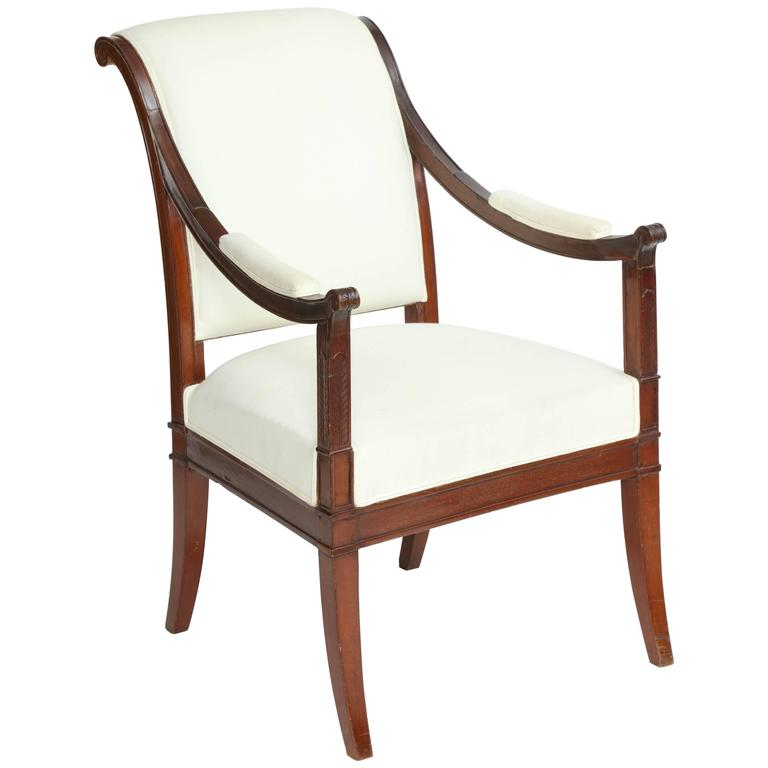 directoire mahogany fauteuil for sale at 1stdibs. Black Bedroom Furniture Sets. Home Design Ideas