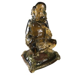 "Antique Hand blown BUDDHA  ""Gold Dust"" robe unique master work Signed Signoretto"