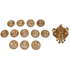 Group of 12 round Medallions and 1 portrait, France c. 1836