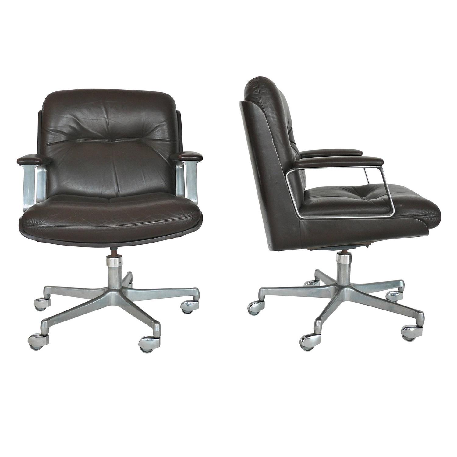 Italian Office Furniture : Italian Leather Office Chairs For Sale at 1stdibs