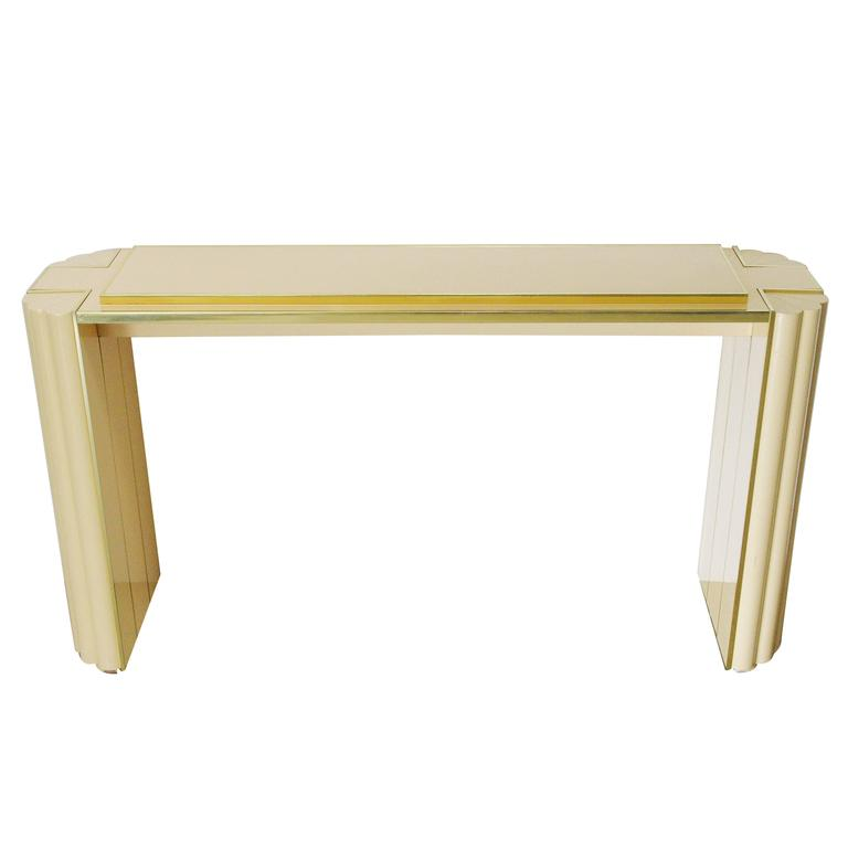Lacquered Console Table by Alain Delon for Maison Jansen For Sale