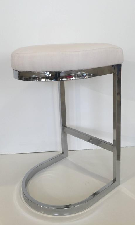 Minimalist DIA Chrome Bar Stool For Sale