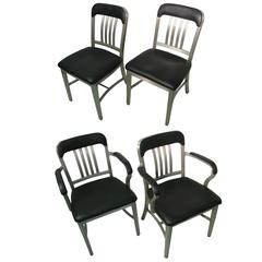 Set of Four Aluminum GoodForm Dining Chairs by General Fireproofing