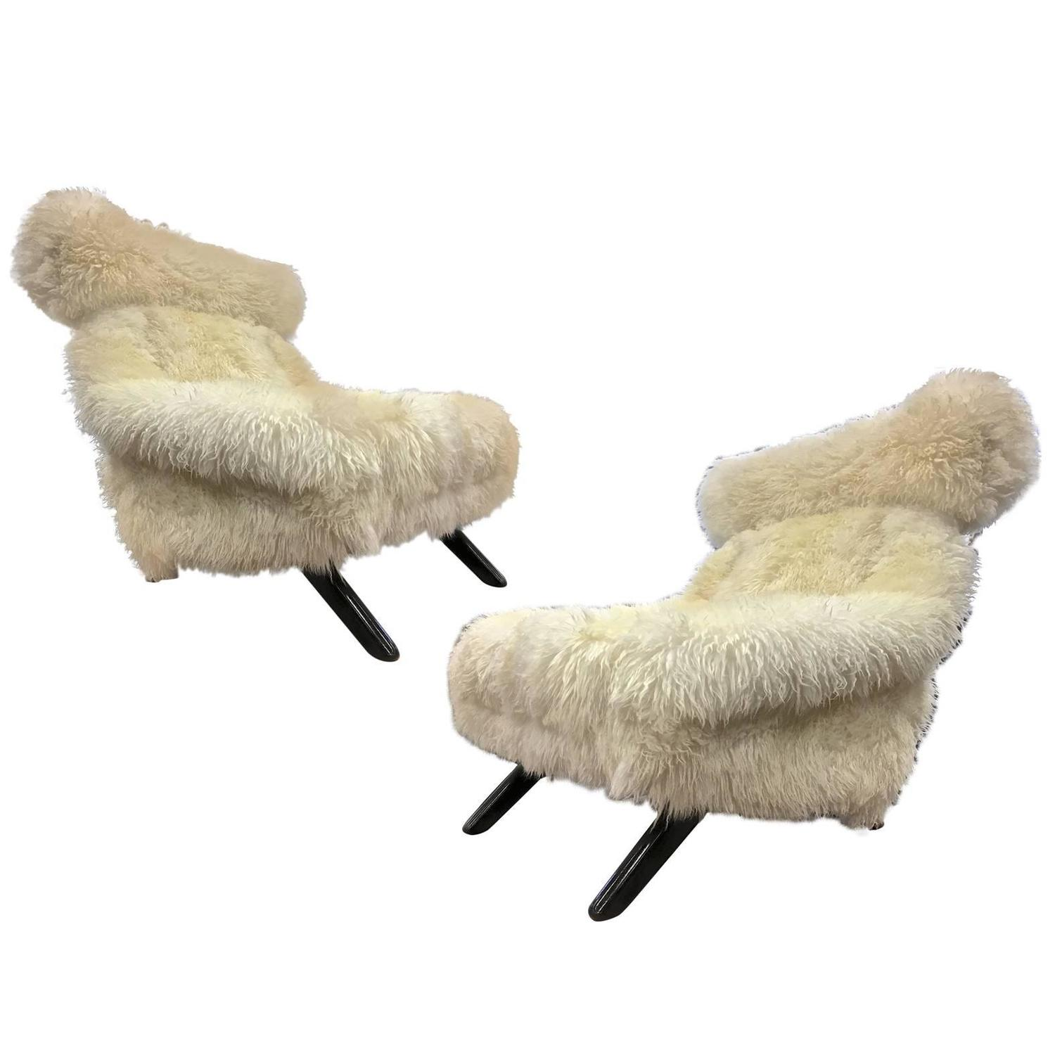 Fur Covered Chair