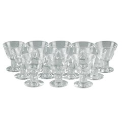 George Thompson for Steuben Air Twist Cocktail Glasses, Set of 12 in Shape 7917