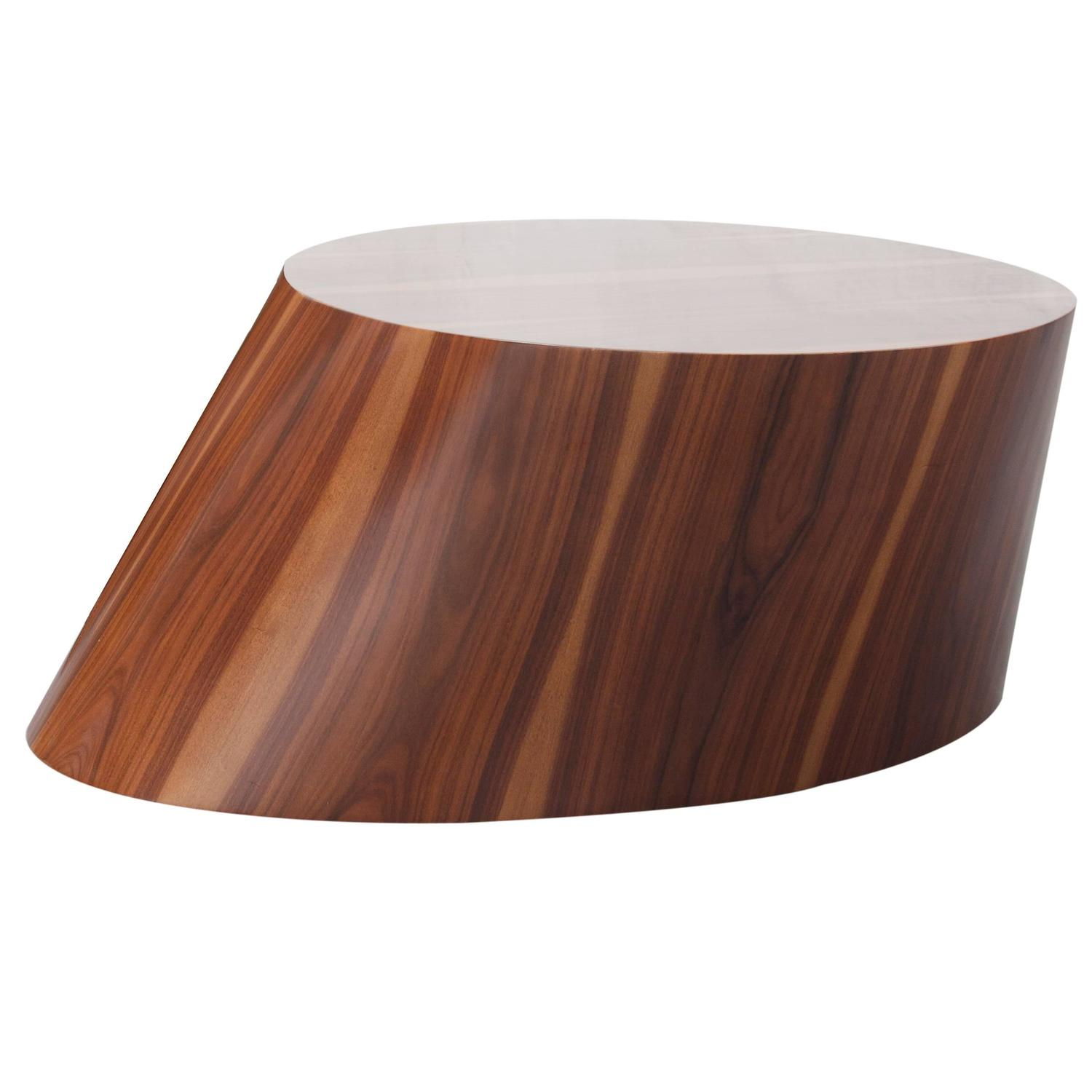 Contemporary Wood Veneered Organic Modern Coffee Table At 1stdibs