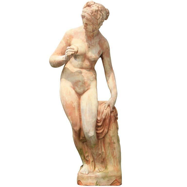 Lifesize Terracotta Diana Nude