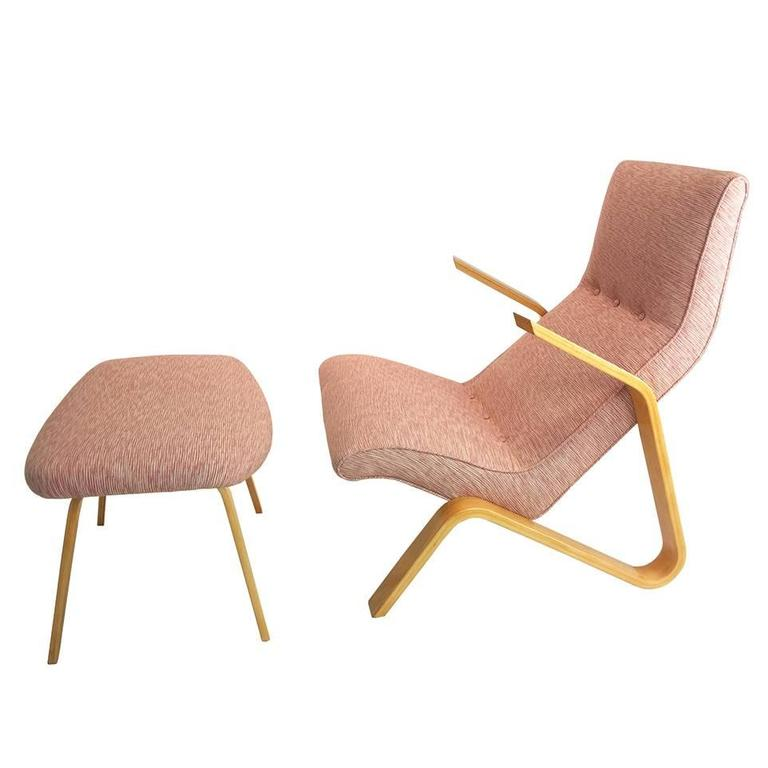 Grasshopper Chair And Ottoman By Modernica For Sale