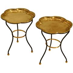 Pair of Italian Brass Tray Tables