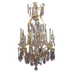 Lead crystal chandeliers 130 for sale on 1stdibs early 20th c french bronze dor and lead crystal chandelier aloadofball Images