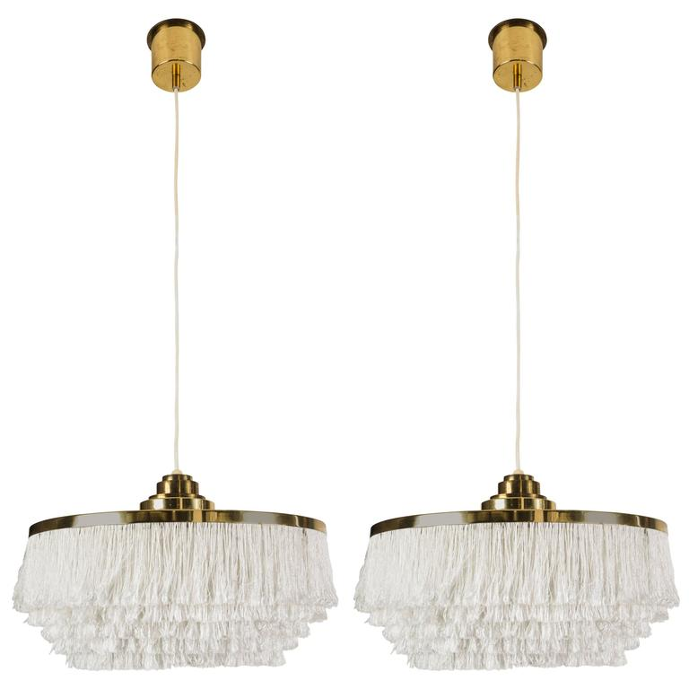 Pair of Fringe Pendants by Hans Agne Jakobsson, Markaryd 1