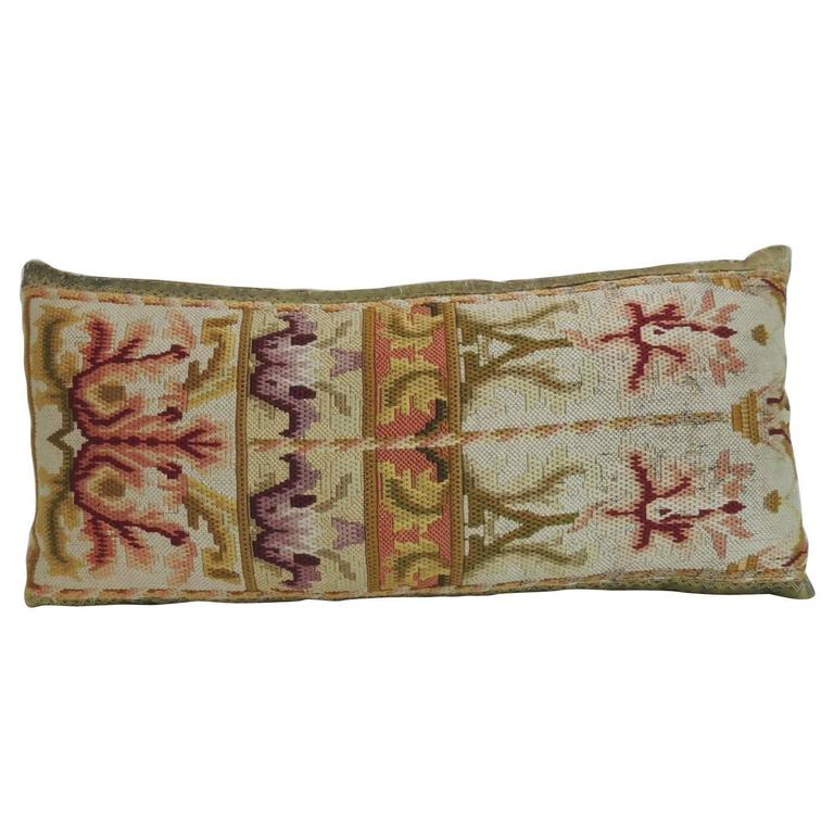19th century tapestry decorative lumbar pillow for sale at 1stdibs