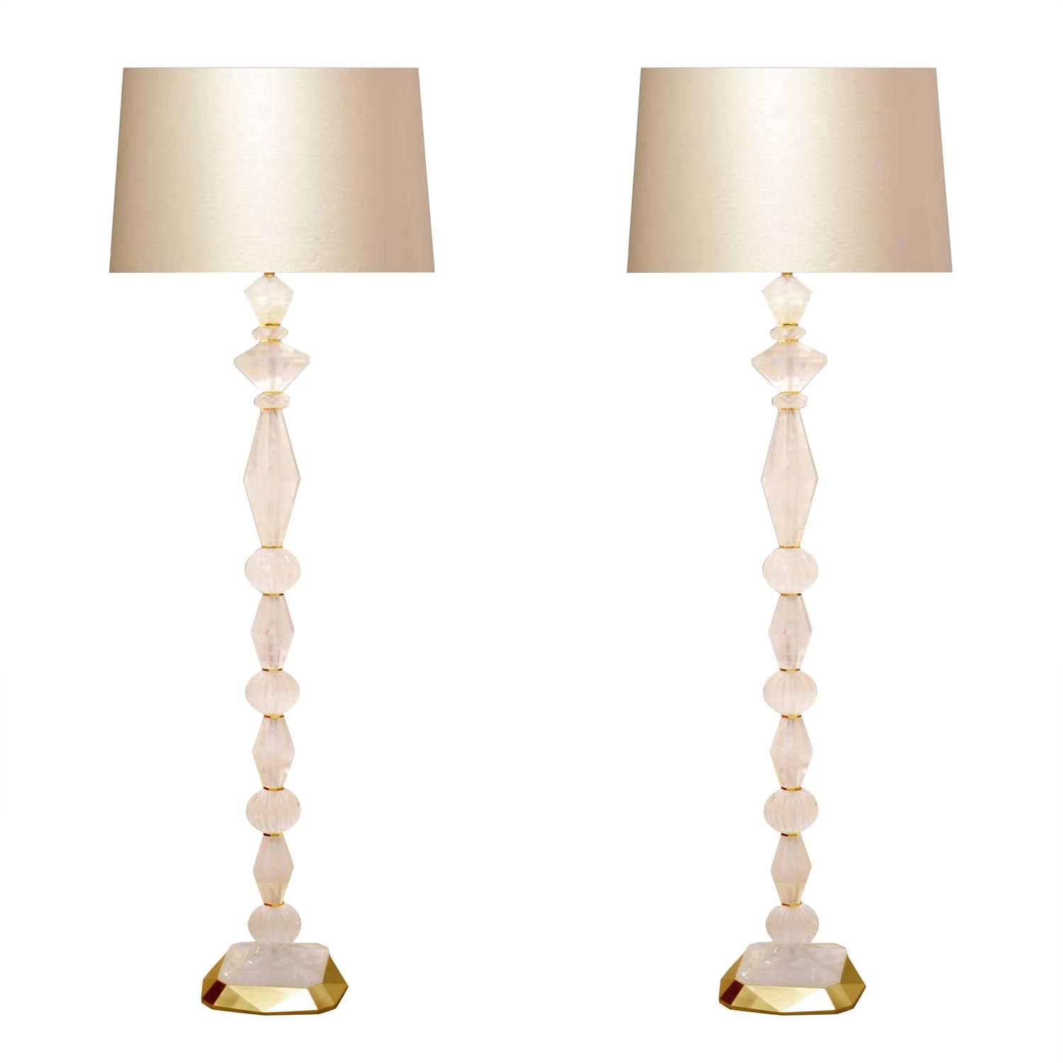 fine carved rock crystal quartz floor lamps for sale at 1stdibs. Black Bedroom Furniture Sets. Home Design Ideas