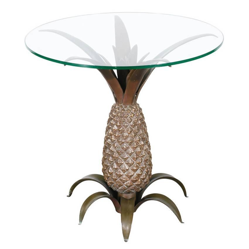 Vintage Bronze Pineapple Side Table with Glass Top at 1stdibs : 1org7z from www.1stdibs.com size 850 x 850 jpeg 33kB