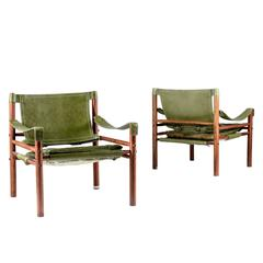"""Pair of Arne Norell """"Sirocco"""" Safari Chairs"""