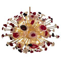 Very Big Sputnik or Sunburst Murano Chandelier