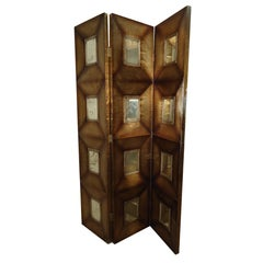 Mid-Century Paul Evans Style Mirrored Room Divider