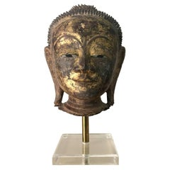 An Exquisite Antique Buddha Head Statue